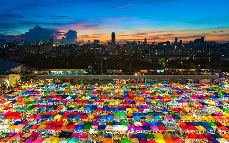بازار شهر بانکوک