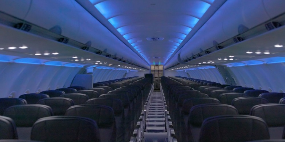 نور داخل کابین هواپیما