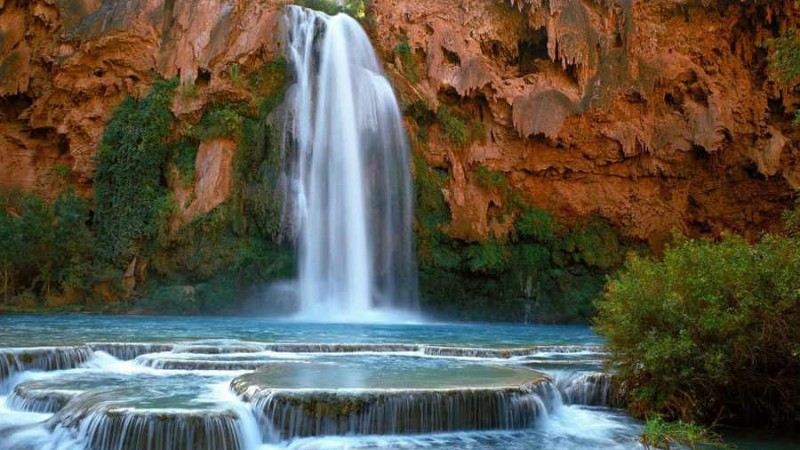 آبشار هاواسو در گرند کانیون ، آریزونا 