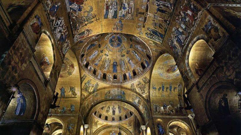 نمای از سقف کلیسای سن مارک