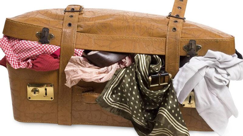 بستن نامناسب چمدان