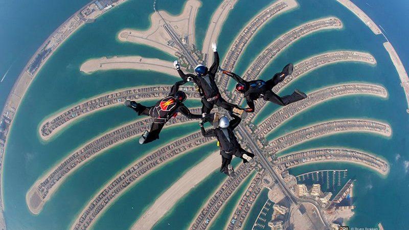 نمایی از مجمعالجزایر دبی از بالا