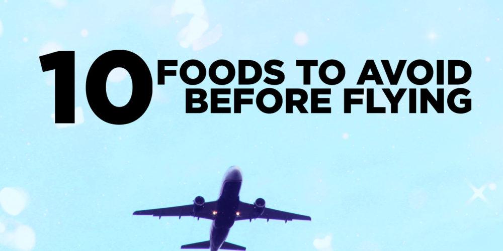 غذاهای ممنوعه قبل از پرواز