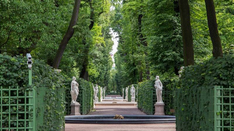 the summer garden st petersburg russia