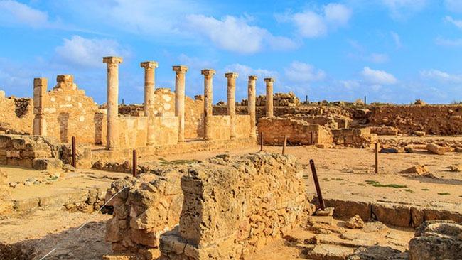 cyprus paphos agora ruins