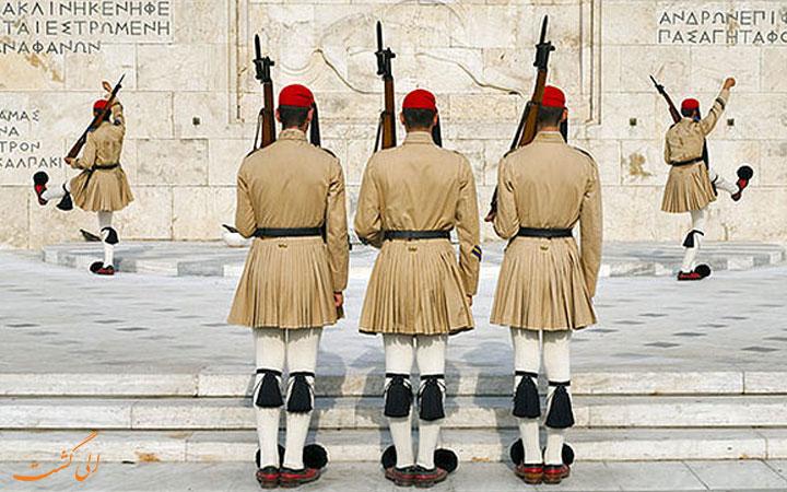 تعویض نگهبانان میدان سینتاگما
