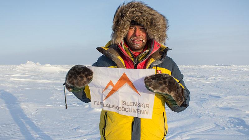ایستادن در قطب شمال