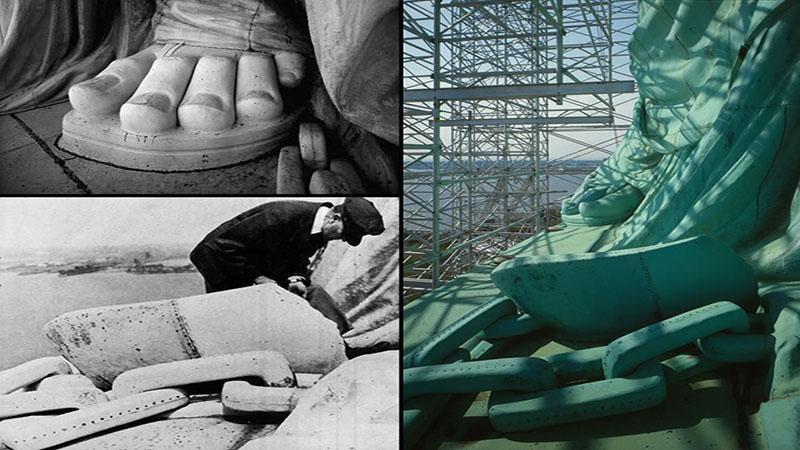 تصویری از پای مجسمه آزادی