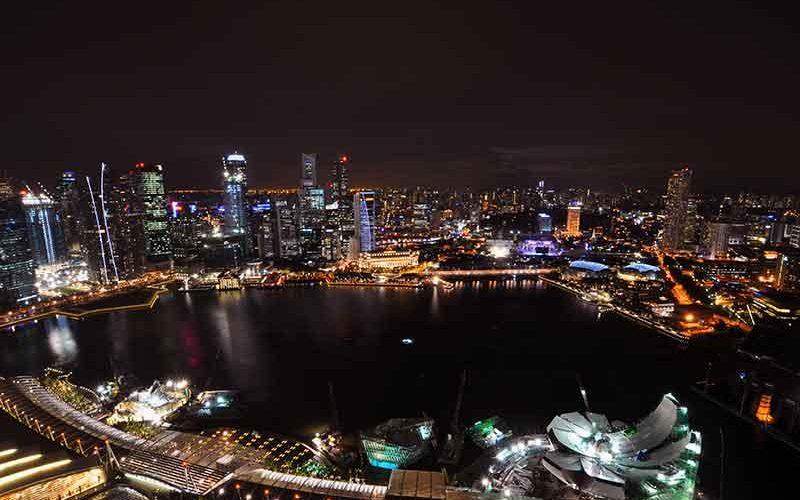 چشم انداز شب سنگاپور