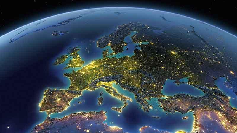 قاره اروپا از فضا