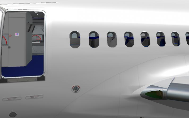 پنجره های گرد هواپیما