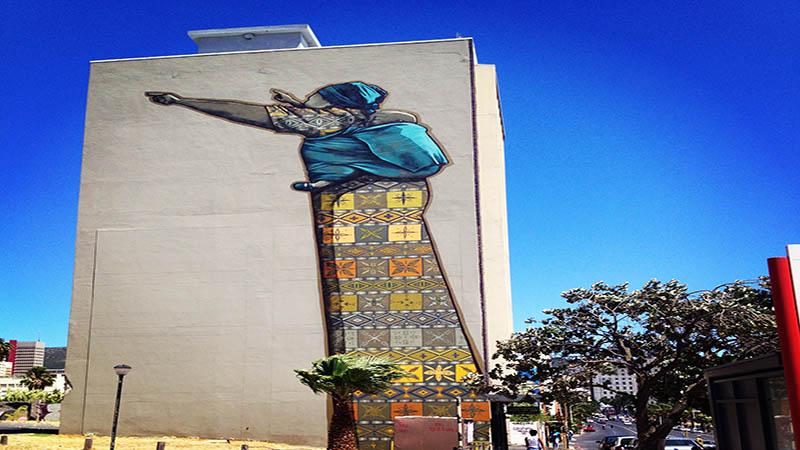 تصویری از آزادی بر دیوار