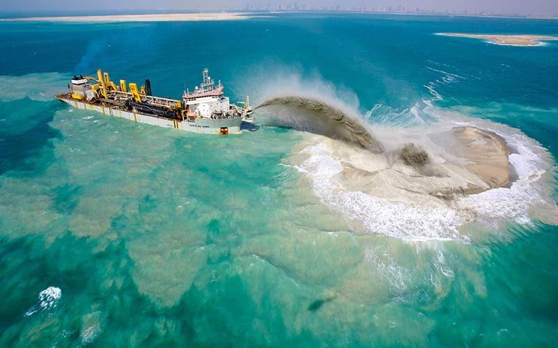 ساخت جزایر مصنوعی دبی