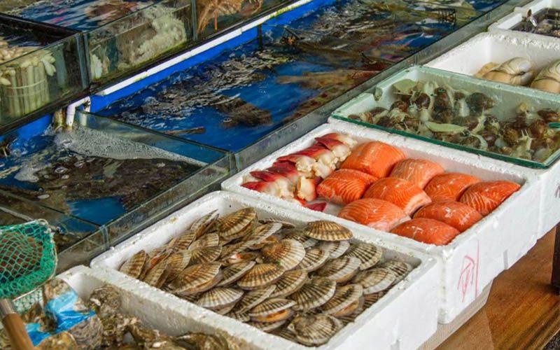 غذاهای دریایی پاساژ چین
