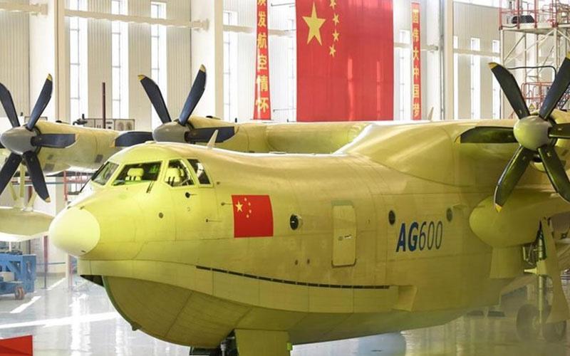 بزرگترین هواپیمای آبی خاکی جهان در چین
