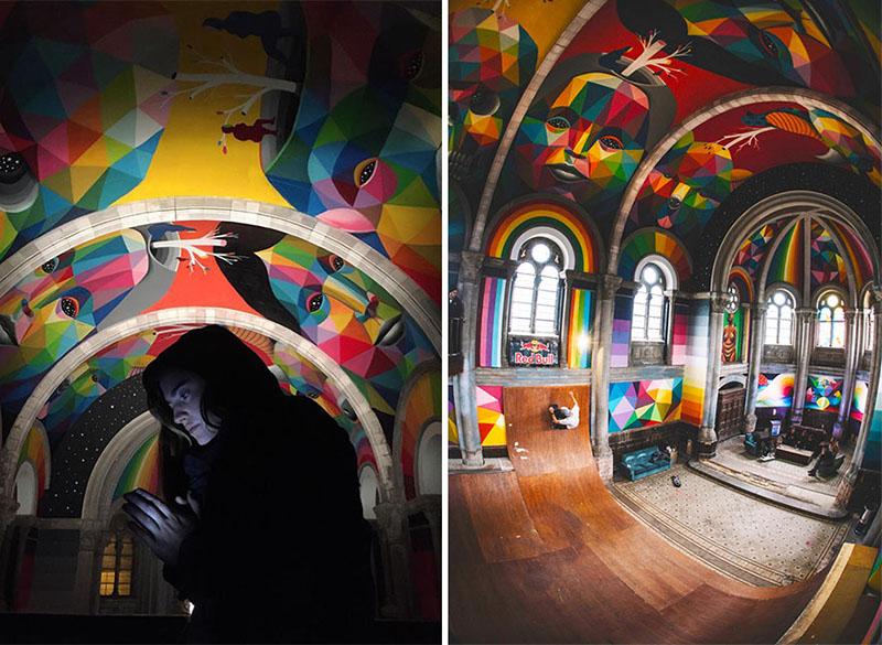 زمین اسکیت در کلیسا