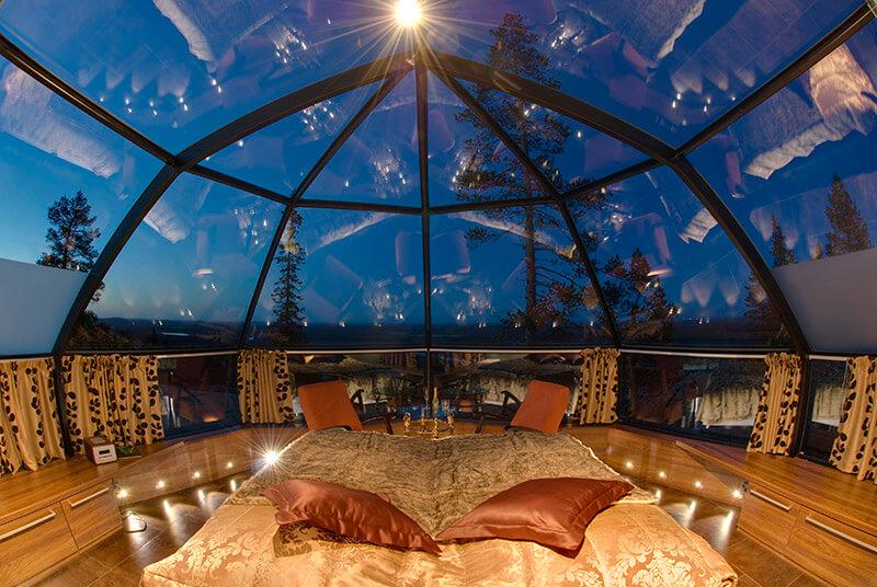 هتل Glass igloo