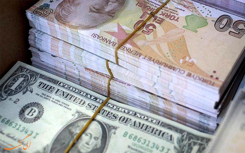 لیر+ترکیه و تبدیل ارز