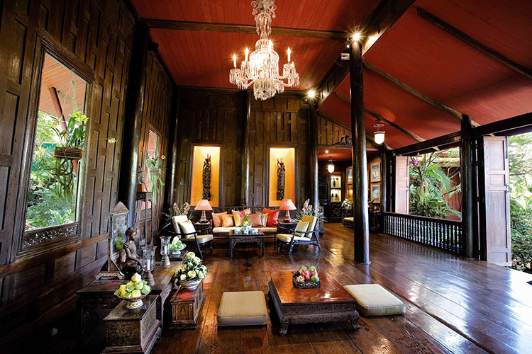 داخل خانه جیم تامپسون در تایلند