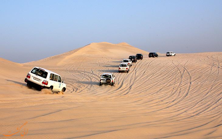 صحرانوردی در بیابان های قطر