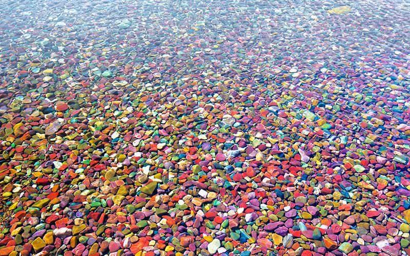 سنگریزه های رنگی