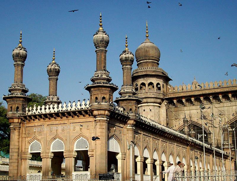 نمایی دیگر از مسجد مکه در حیدرآباد