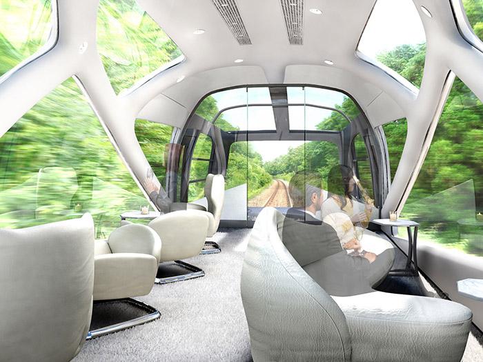 سقف قطار شیکی- شیما در ژاپن