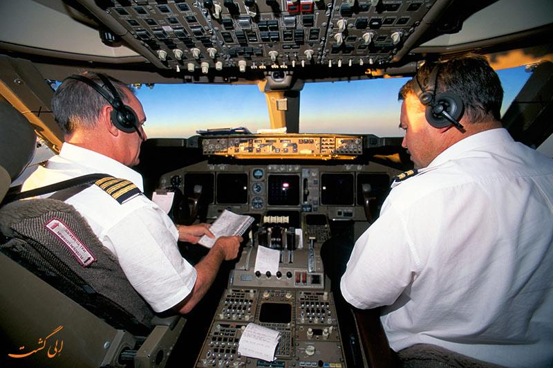 ساعات کاری خلبان ها