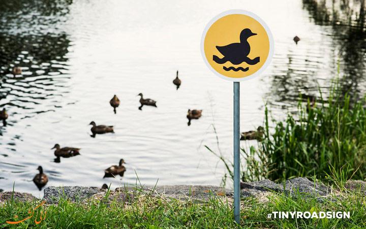 تابلوهای عبور و مرور حیوانات