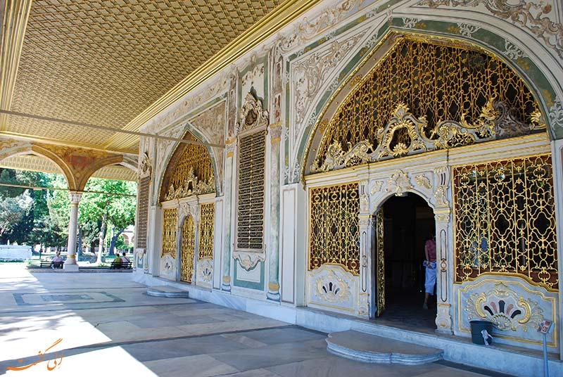 نمای زیبایی از کاخ توپکاپی