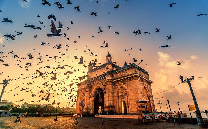 آسمان صبگاهی دروازه هند