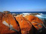 راز رنگ نارنجی صخره های خلیج آتش چیست؟