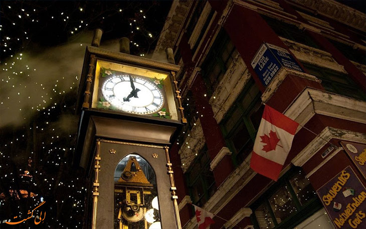 ساعت بخار در ونکوور