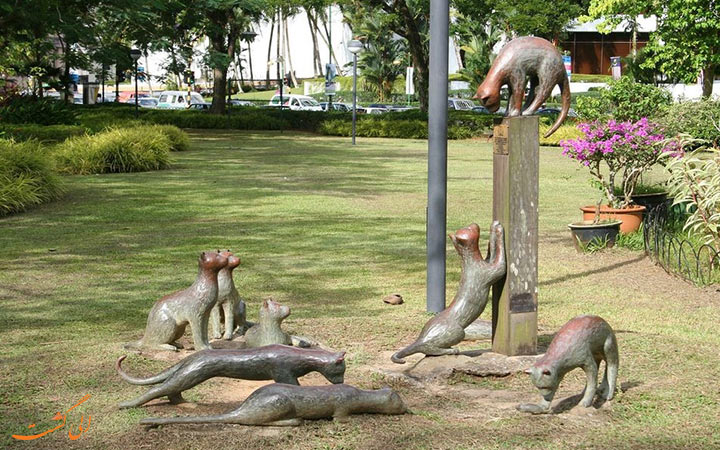 مجسمه های گربه