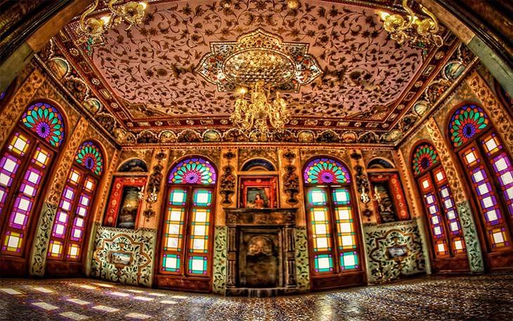 محوطه داخلی کاخ گلستان