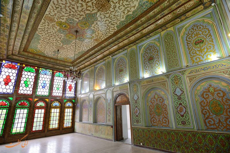 سقف و دیوار نارنجستان قوام
