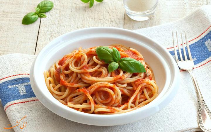 پاستا ایتالیایی گوجه