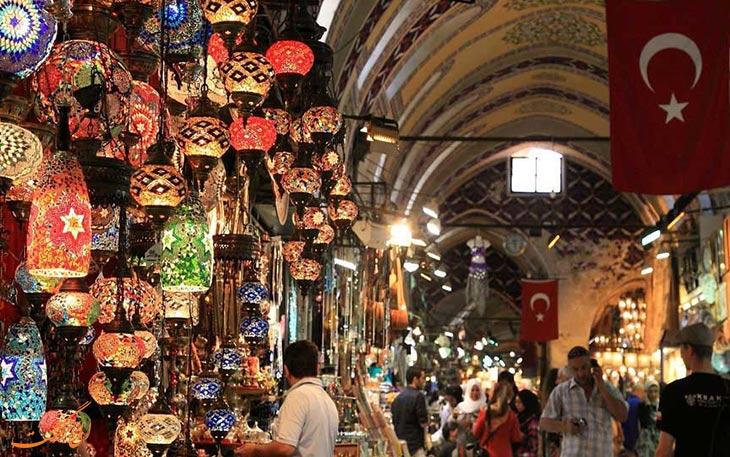 نمایی دیدنی از بازار استانبول