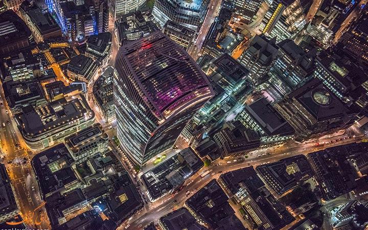 تصاویر ساختمان های لندن از بالا
