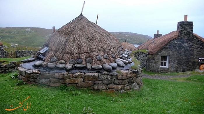 عکس سیاه خانه های اسکاتلند