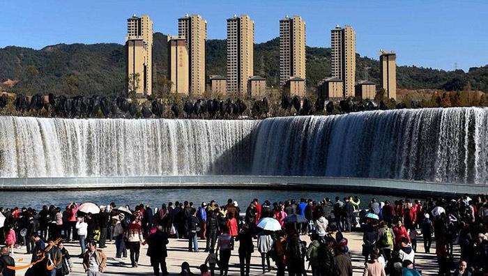 بزرگترین آبشار ساخت بشر در آسیا
