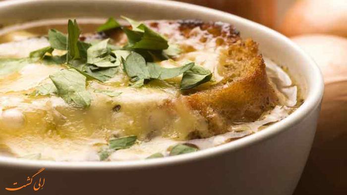 سوپ پیاز | غذاهای فرانسوی