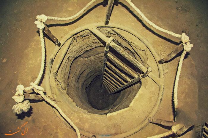 چاه های شهر زیر زمینی نوش آباد