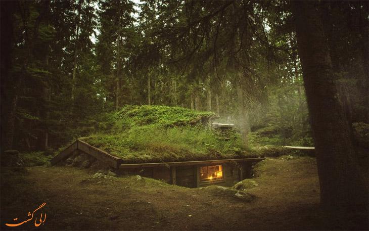 کلبه های زیرزمینی در سوئد