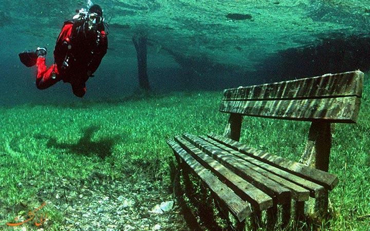 غواصی در دریاچه گرین