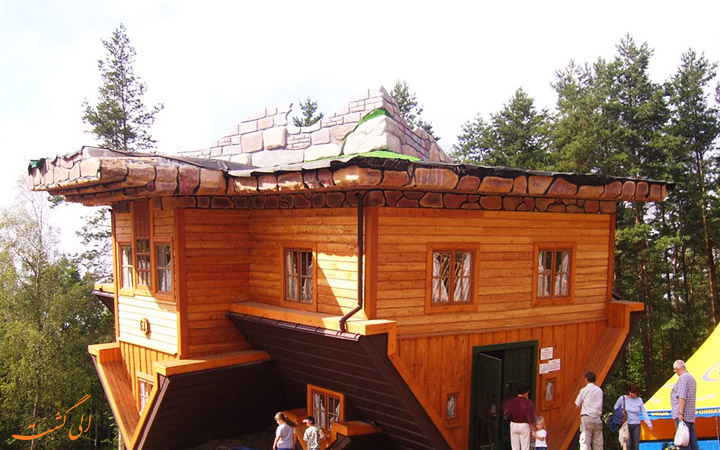 خانه ای برعکس در لهستان