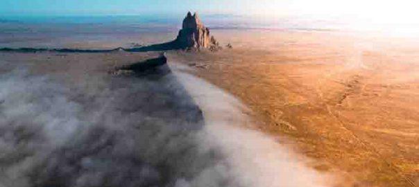 کوه مه گرفته در نیومکزیکو