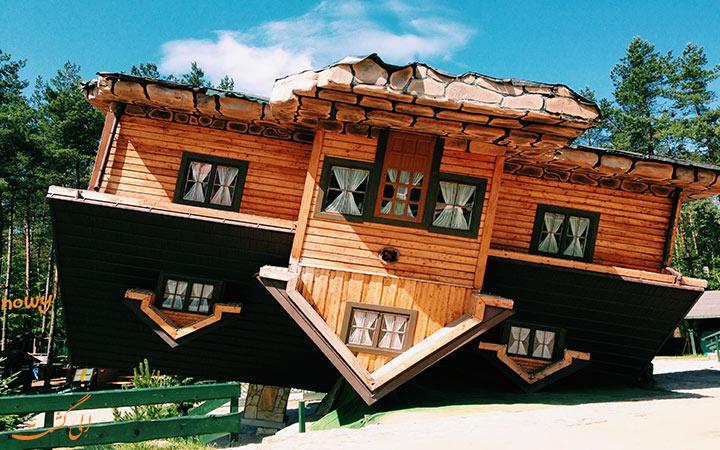 خانه وارونه، مهمترین جاذبه در روستای لهستان