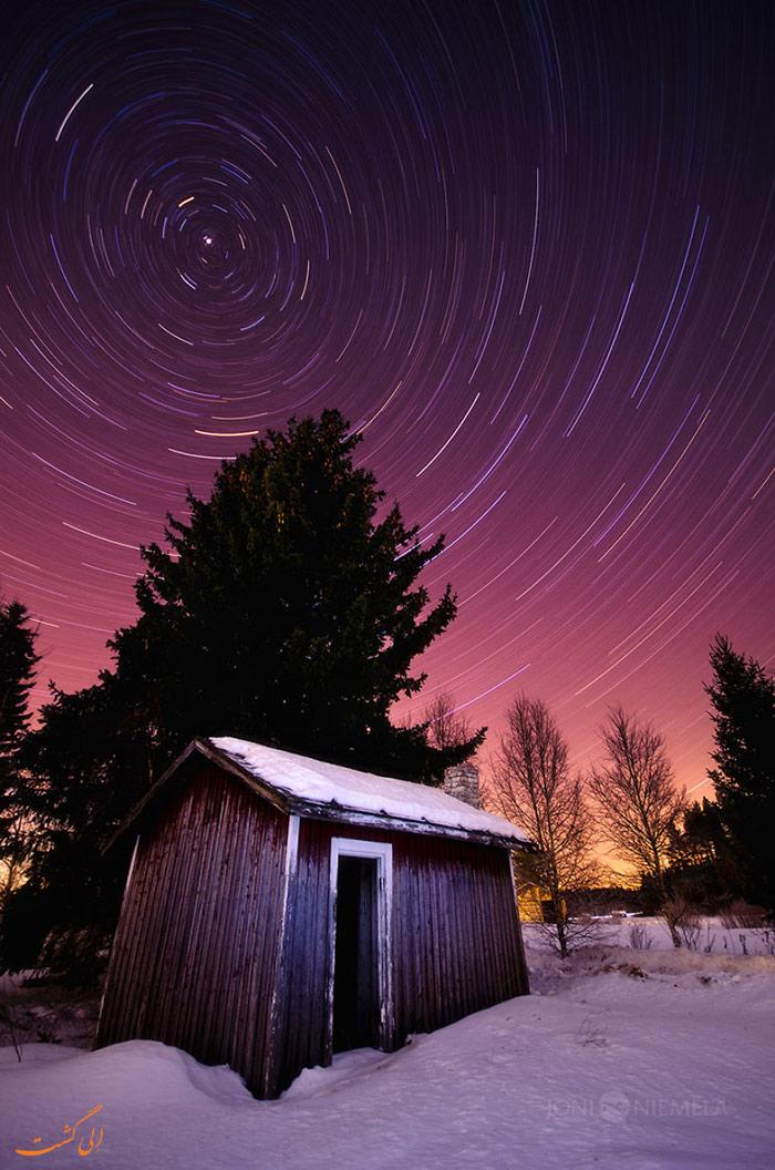 کلبه ای جنگلی در سوئد