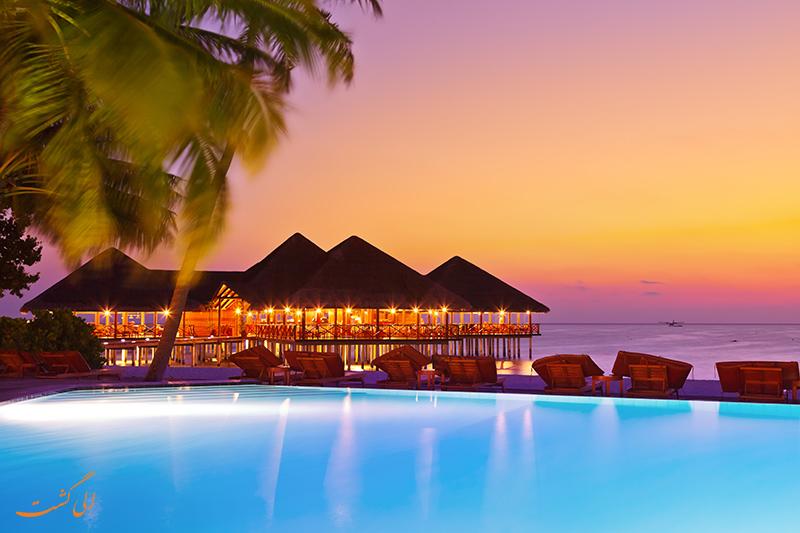 غروب جزایر مالدیو